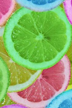 Fresh Colorful Lemon Slices #Phone #4s #wallpaper