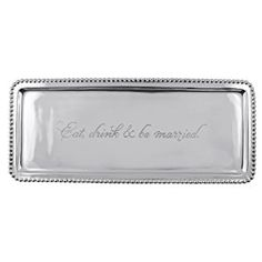 """Amazon.com   Mariposa """"Eat, drink & be married"""" Tray: Serving Trays"""
