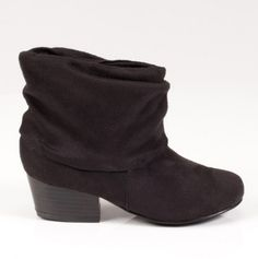 Girls Black Slouchy Boot