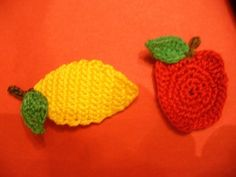 Crocheted Fruit and Vegetable Appliques Embellishments by TheLooks