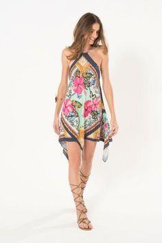 vestido pontas lenco lindo