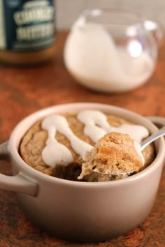 Cookie Butter Baked Oatmeal for One