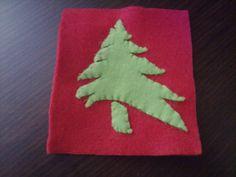 3 handmade unique cristmas tree felt souver  by fifirixtra on Etsy, $3.00