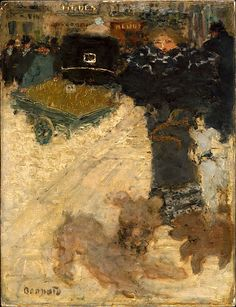 Pierre Bonnard (French, 1867-1947), Street Scene, Place Clichy, 1895. Oil on cardboard, 13 7/8 x 10 5/8 inches (35.3 x 27 cm.). The Metropolitan Museum of Art, New York.