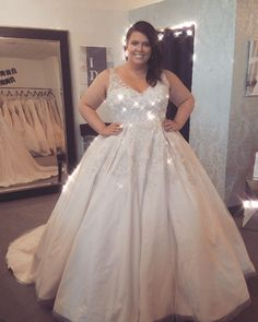 Ballgown wedding dress, plus-size wedding gown