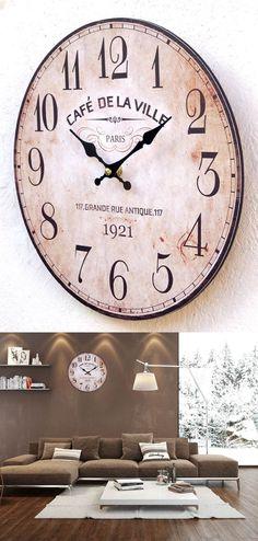 tolle wanduhr im vintage look uhr dekoration vintage affiliatelink schone uhren