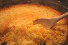Paula Deen's Cornbread Bread Casserole. It's like a corn dessert.