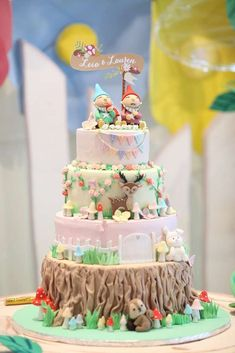 Incredible cake at a garden fairy birthday party! See more party ideas at CatchMyParty.com!