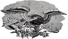 Antique Patriotic Eagle Image