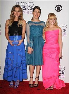 People's Choice Awards- Kaley Cuoco, Mayim Bialik, and Melissa Rauch