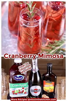 If you are planning a holiday brunch, cocktail party or Christmas morning with the family, add these easy Christmas Mimosa's to the menu. They are festive and incredibly delicious! Cranberry Mimosa, Cranberry Recipes, Holiday Recipes, Family Recipes, Cocktails For Parties, Craft Cocktails, Easy Cocktails, Alcohol Drink Recipes, Punch Recipes