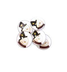 5 Top Hat Snowman  Buttons. Handmade Buttons. by buttonsbyrobin, $9.99
