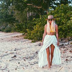 """@the_salty_blonde wears the Riviera skirt - in stores & online #sunseasalt #faithfullthebrand"" Photo taken by @faithfullthebrand on Instagram, pinned via the InstaPin iOS App! http://www.instapinapp.com (06/09/2015)"