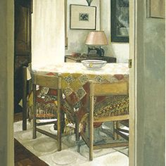 Cuadro de Amalia Avia #PintoresXX #AmaliaAvia #RealismoEspañol Painters, Dining Table, Furniture, Home Decor, Contemporary Paintings, Contemporary Art, Paint, Artists, Homemade Home Decor