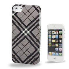 Iphone 5 Cover Schwarz Kariert (harte Rückseite) von CNP