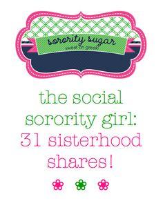 ice-breaker fun for all your sisterhood events! <3 BLOG LINK:  http://sororitysugar.tumblr.com/post/17771896044/sisterhood-share#notes