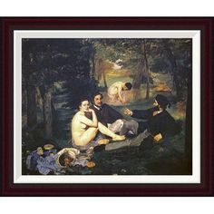 """Global Gallery Luncheon on the Grass by Edouard Manet Framed Painting Print Size: 21.6"""" H x 26"""" W"""