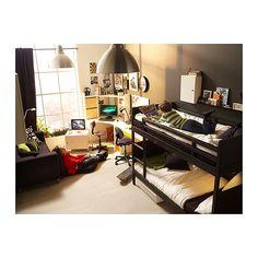 NORDDAL Estructura de litera IKEA Se puede convertir en dos camas individuales. La escalera se puede montar a la izquierda o derecha de la cama.