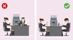 La proxemia tiene que ver con cómo manejas el espacio en el que estás. ¿Esperas a que otro te indique dónde ubicarte o te ubicas sin esperar? Esto es muy importante en las entrevistas laborales. El lugar donde te ubiques dará un mensaje acerca de cómo percibes tu rol y el del entrevistador en esa situación.