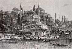 OĞUZ TOPOĞLU : eugene flandin üsküdar iskelesi ve kayıkçılar grav...