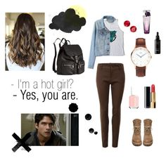 Fem!Scott Mccall by matveewaaa on Polyvore featuring мода, Gucci, Rick Owens, H&M, Anne Klein, Flash Tattoos, Chanel, Lancôme, Essie and Episode