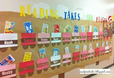 Reading Takes You Places! - Each classroom could have its own car to display a favorite book/summary!