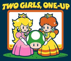 I just realized... Me and my bestie are Peach and Daisy!!!!!