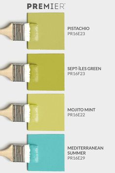 Embrace colour and introduce more vibrancy into your home with this palette by PREMIER. #PaintWithPREMIER