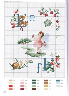Vintage Children with Alphabet Cross Stitch Pattern Cross Stitch Letters, Cross Stitch For Kids, Just Cross Stitch, Cross Stitch Baby, Cross Stitch Samplers, Cross Stitch Charts, Cross Stitch Designs, Cross Stitching, Cross Stitch Embroidery
