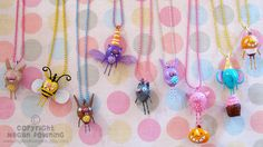 Mini Paperclay Charms by PigAndPumpkin