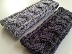 Hæklet pandebånd - gratis opskrift  Crochet Cable Ear Warmer Pattern