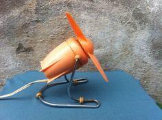 Vintage BJM Desk Fan Retro Italian Orange electric by bacpaso, $60.00