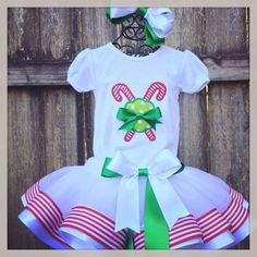 Sweet peppermint  candy cane Ribbon Trimmed by SweetSouthernSky