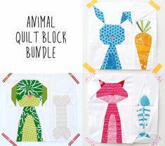 Cat, Dog, and Bunny Block PDF Pattern Bundle from Sugaridoo
