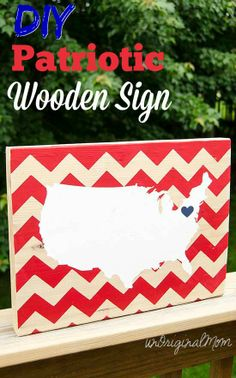 DIY Patriotic Wooden Sign - and a free cut file to make your own!