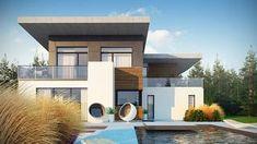 Projekt domu Zx182 Nowoczesny piętrowy dom w wyjątkowym stylu. Dom, Mansions, House Styles, Outdoor Decor, Home Decor, Houses, Decoration Home, Room Decor, Villas