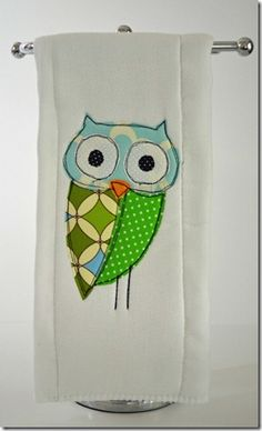 DIY owl appliqué. Learn this to apply to other items you want to add a little something to!