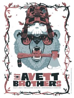The Avett Brothers Poster - May 1 2015, Springfield, MO on Behance