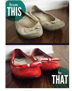 An easy DIY shoe refashion!