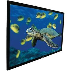 Elite Screens ezFrame Series, 106-inch Diagonal 16:9, Fixed Frame Home Theater Projection Screen, Model: R106WH1  The ezFrame Series projector screen from Elite Screens is the perfect piece to create the ultimate home theater experience. Whether you have a dedicated media room or a casual set up in your living room, the ezFrame is designed to give the user a professional-grade screen at an affordable price. Hang this screen just like a large picture frame -at home, in the office, at ..