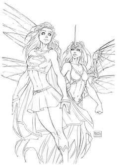 Supergirl & Soulfire | Michael Turner