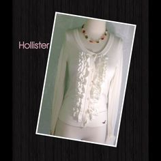 Spotted while shopping on Poshmark: SALE Hollister Small Cream Ruffle Cardigan! #poshmark #fashion #shopping #style #Hollister #Sweaters