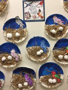 """- """" The Effective Pictures We Offer You About trends icon A quality picture can tell you many thin - Bird Crafts Preschool, April Preschool, Easter Crafts For Kids, Toddler Crafts, Preschool Activities, Diy For Kids, Bird Nest Craft, Art Drawings For Kids, Paper Plate Crafts"""