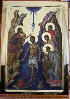 Christ, Byzantine Icons, Orthodox Icons, Religion, Batman, Scene, Contemporary, Superhero, Painting