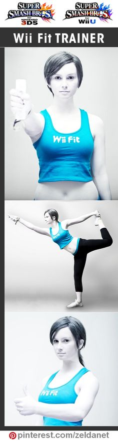 Wii Fit Trainer by #Hayleyelise in Super Smash Bros crossplay series | @nintendo #3DS #WiiU Credits in original post at http://www.pinterest.com/zeldanet/super-smash-bros-cosplay-series/