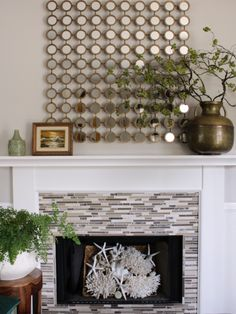 Oscar Bravo Home: Styling My Unused Fireplace in the Summer Unused Fireplace, Fireplace Mantels, Mark Sikes, Style Me, Beautiful Pictures, Summer, Inspiration, Painting, Design