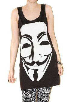 Vendetta Ladies T Shirt Revolution Guy Fawkes Mask Fashion Dope Swag Fresh