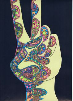 psychedelic art 1960s | shrooms acid psychedelic peace Poster 1960s neon Psychedelic art ...