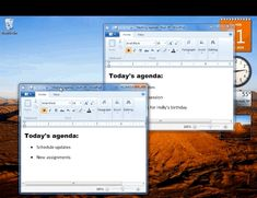 In Windows 7 or later, quickly place two application windows side-by-side.