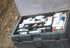 I am so making one!  An emergency medical kit for the family in a tool box.  I love it!